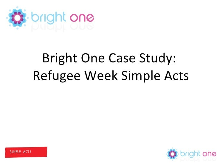 Bright One Case Study:  Refugee Week Simple Acts