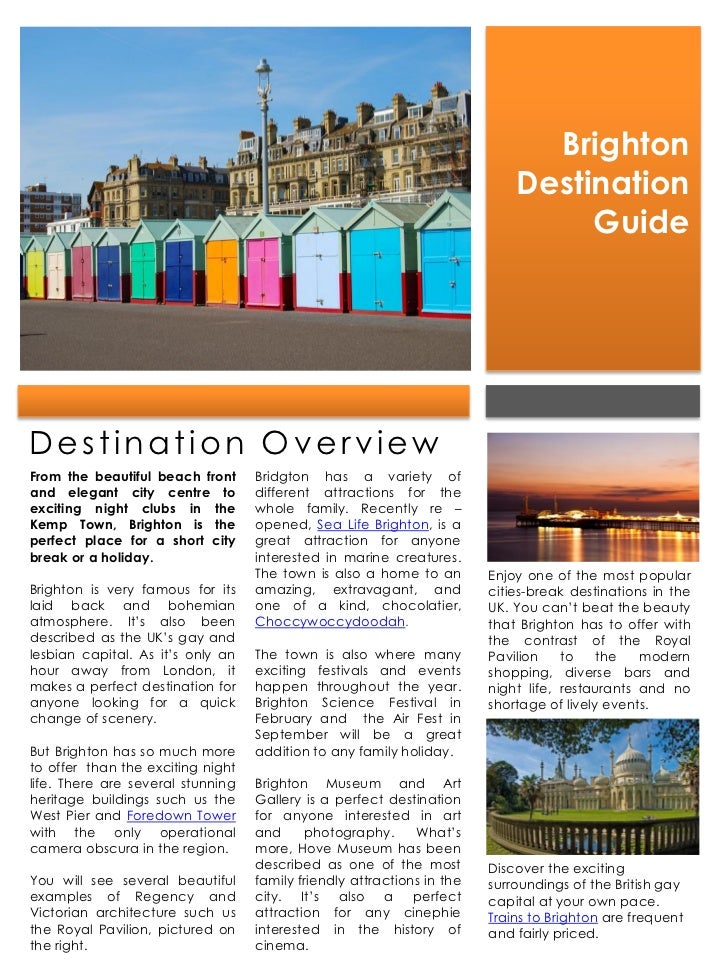 Brighton                                                                            Destination                           ...