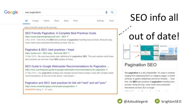 @Adoublegent brightonSEO SEO info all out of date!