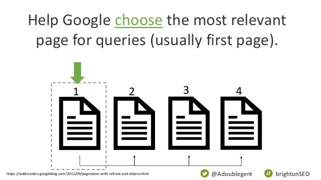 @Adoublegent brightonSEO Help Google choose the most relevant page for queries (usually first page). 1 2 3 4 https://webma...