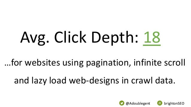 @Adoublegent brightonSEO@Adoublegent brightonSEO …for websites using pagination, infinite scroll and lazy load web-designs...