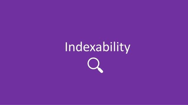 @Adoublegent brightonSEO Indexability