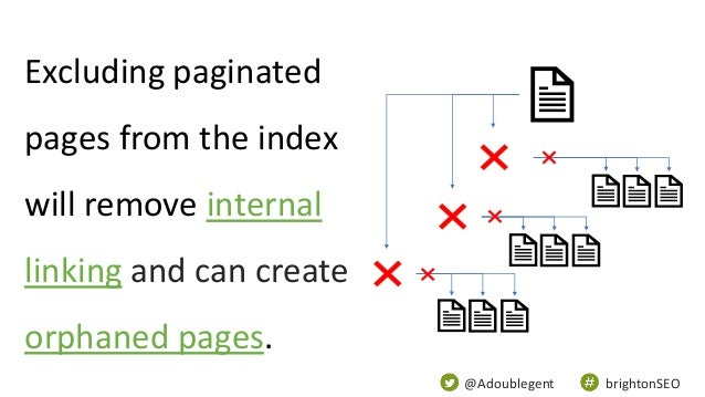 @Adoublegent brightonSEO Excluding paginated pages from the index will remove internal linking and can create orphaned pag...