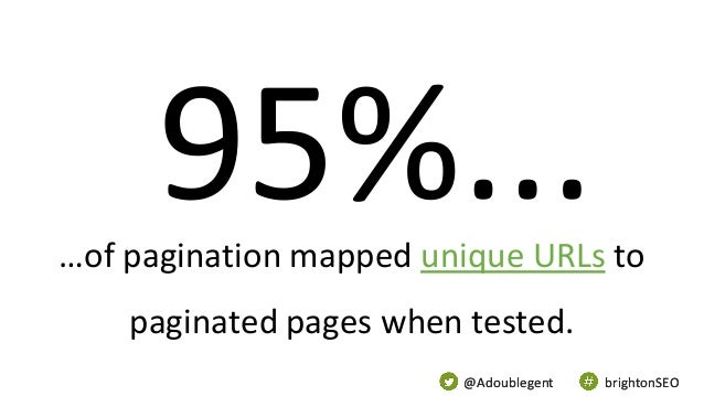 @Adoublegent brightonSEO@Adoublegent brightonSEO …of pagination mapped unique URLs to paginated pages when tested.