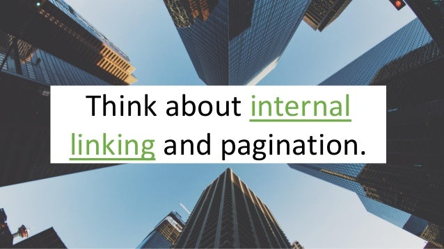 @Adoublegent brightonSEO@Adoublegent brightonSEO Think about internal linking and pagination.