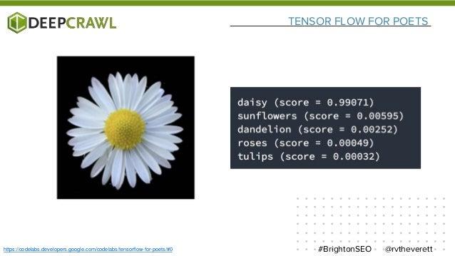 TENSOR FLOW FOR POETS @rvtheverett#BrightonSEOhttps://codelabs.developers.google.com/codelabs/tensorflow-for-poets/#0