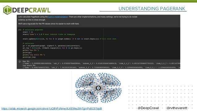 @rvtheverett@DeepCrawlhttps://colab.research.google.com/drive/1zQ8VFcNmwVLKEMwJ3lhTginPoSC5TdpB UNDERSTANDING PAGERANK