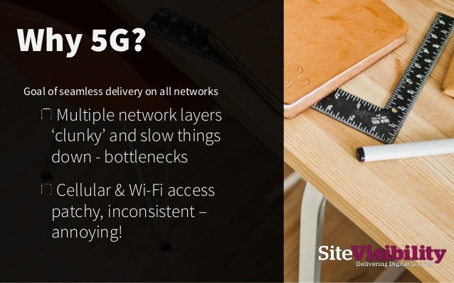 Cellular & Wi-Fi access patchy, inconsistent – annoying! Goal of seamless delivery on all networks Multiple network layers...