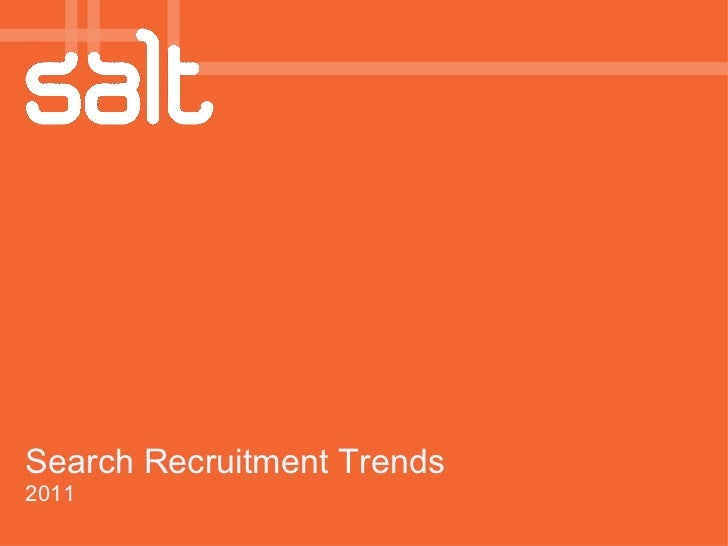 Search Recruitment Trends 2011