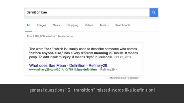 """""""general questions"""" & """"transition"""" related-words like [definition]"""