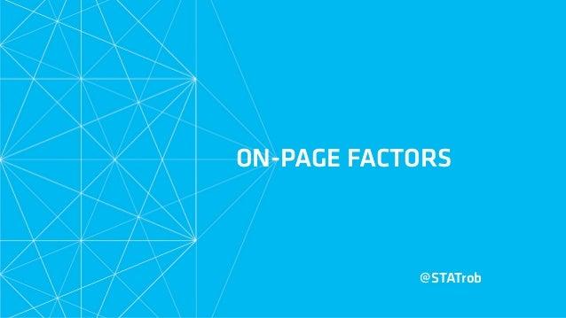 ON-PAGE FACTORS @STATrob