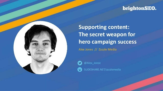 Supporting content: The secret weapon for hero campaign success Alex Jones // Zazzle Media SLIDESHARE.NET/zazzlemedia @Ale...
