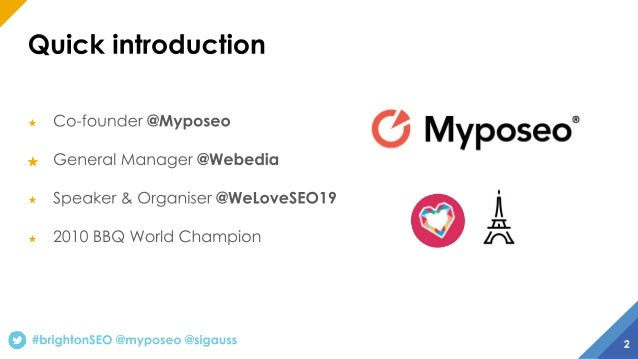 How to build a perfect (landing) page - BrightonSEO September 2019 talk Slide 2