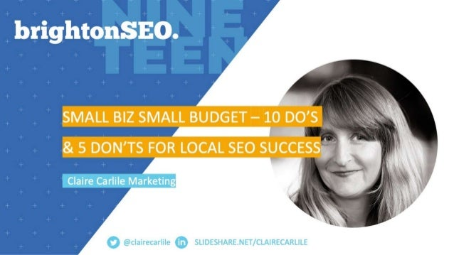 10 Do's and 5 Don'ts for Small Biz Local SEO Success