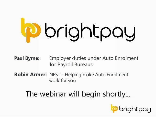 paul byrne employer duties under auto enrolment for payroll bureaus robin armer nest - Payroll Duties