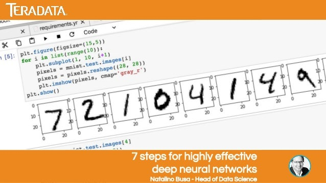 7 steps for highly effective deep neural networks Natalino Busa - Head of Data Science