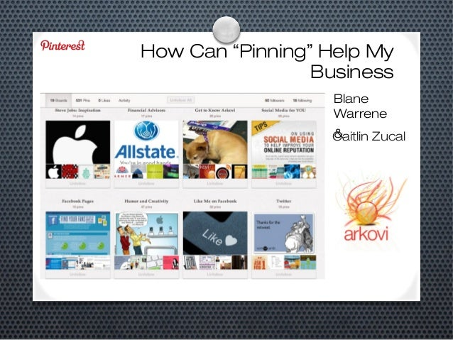 """How Can """"Pinning"""" Help My Business Blane Warrene & Caitlin Zucal"""