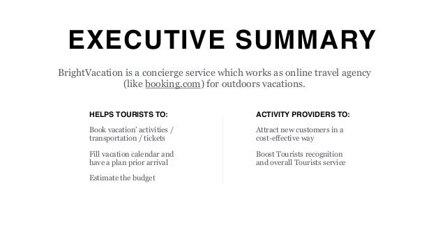 summary travel agency organization One of the most important aspects of a swot analysis for travel agencies is very simply the act of planning: the analysis makes you take a good look at.