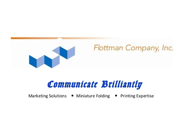 Communicate Brilliantly Marketing Solutions Miniature Folding Printing Expertise