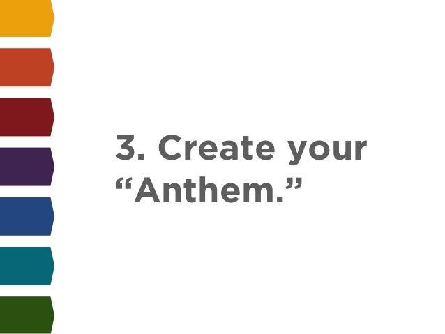 "3. Create your  ""Anthem."""