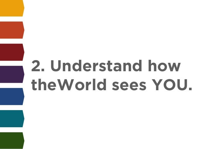 !  2. Understand how  theWorld sees YOU.