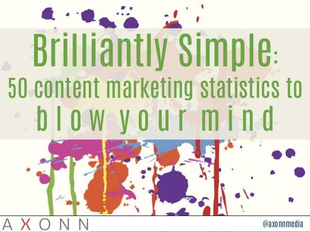 @axonnmedia Brilliantly Simple: 50 content marketing statistics to b l o w y o u r m i n d