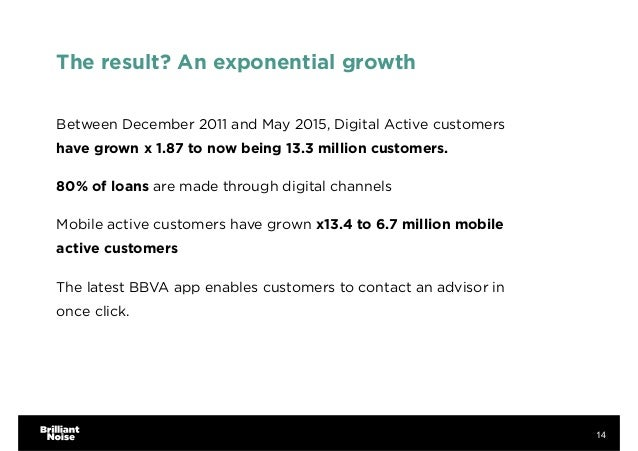 The result? An exponential growth Between December 2011 and May 2015, Digital Active customers have grown x 1.87 to now be...