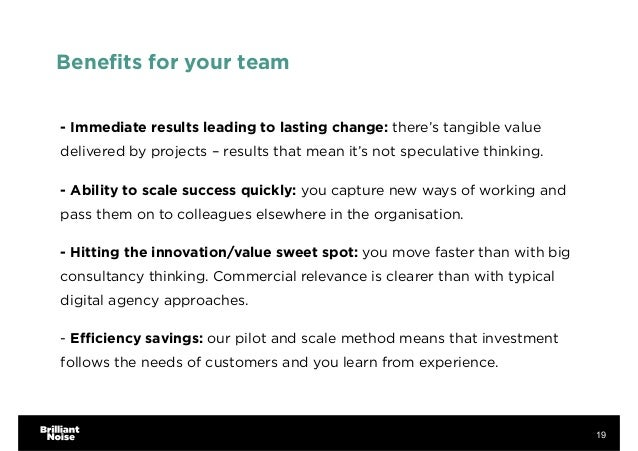 Benefits for your team - Immediate results leading to lasting change: there's tangible value delivered by projects – result...