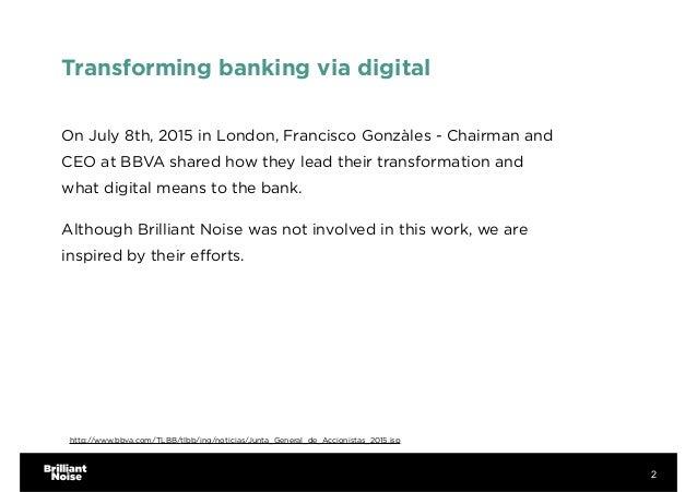 The digital transformation of BBVA Slide 2