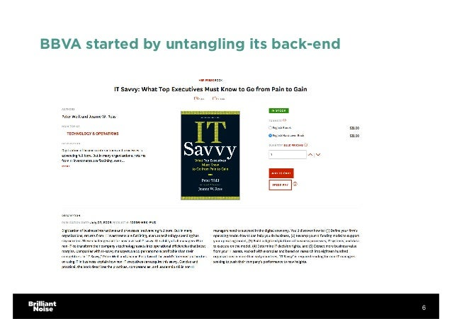 BBVA started by untangling its back-end 6