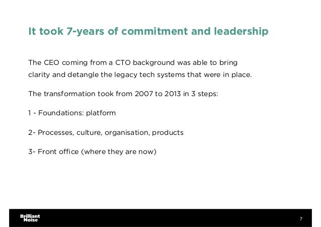 It took 7-years of commitment and leadership The CEO coming from a CTO background was able to bring clarity and detangle t...