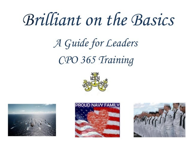 Brilliant on the Basics    A Guide for Leaders     CPO 365 Training