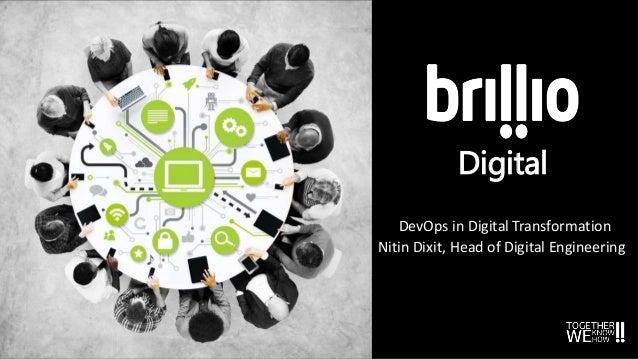 Digital DevOps in Digital Transformation Nitin Dixit, Head of Digital Engineering