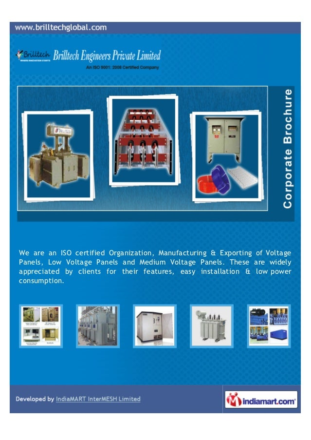 We are an ISO certified Organization, Manufacturing & Exporting of VoltagePanels, Low Voltage Panels and Medium Voltage Pa...