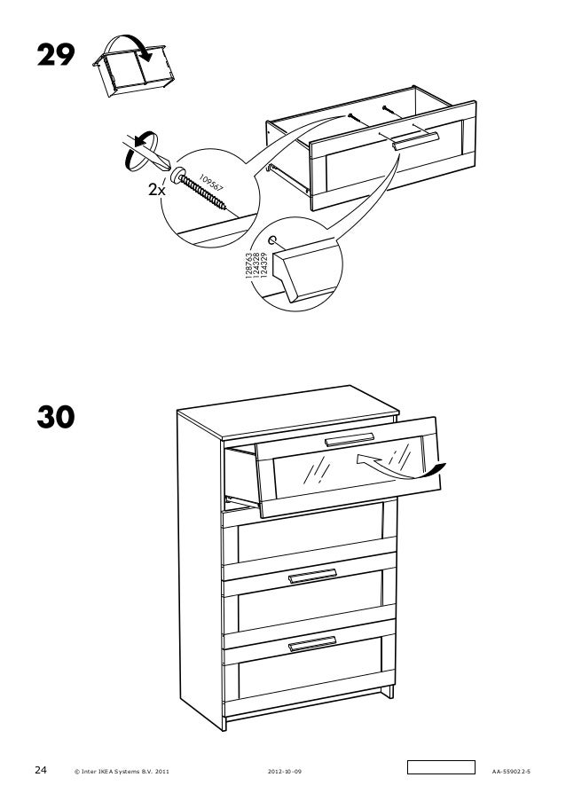 Ikea Nordli Dresser Assembly Instructions