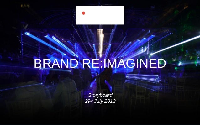 BRAND RE:IMAGINED Storyboard 29th July 2013