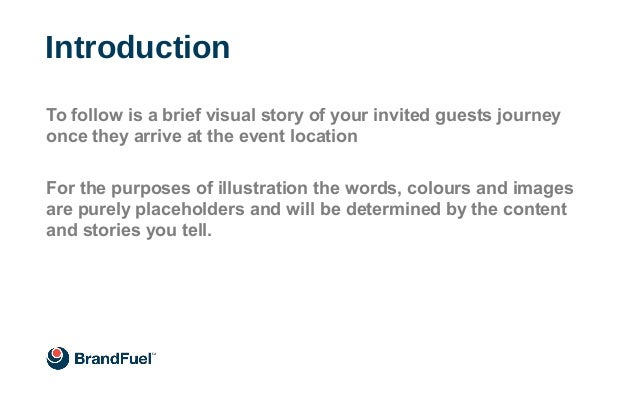 Introduction To follow is a brief visual story of your invited guests journey once they arrive at the event location For t...