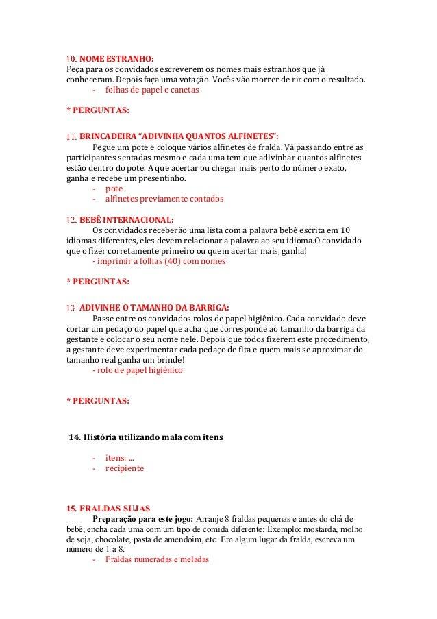 Amado Brincadeiras baby-chá OO59