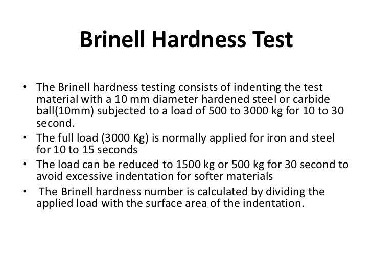 Brinell Hardness Testing Methods - Disun