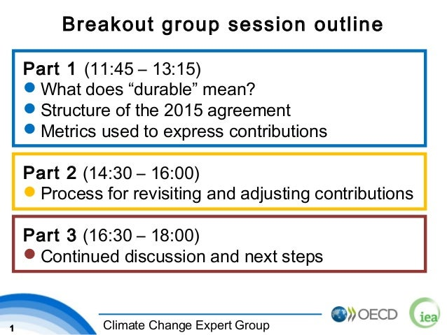 """1 Climate Change Expert Group Breakout group session outline Part 1 (11:45 – 13:15) What does """"durable"""" mean? Structure ..."""