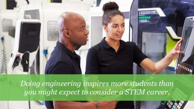 8 Doing engineering inspires more students than you might expect to consider a STEM career.