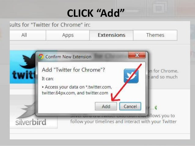 Facebook and Twitter in Google Chrome Toolbar