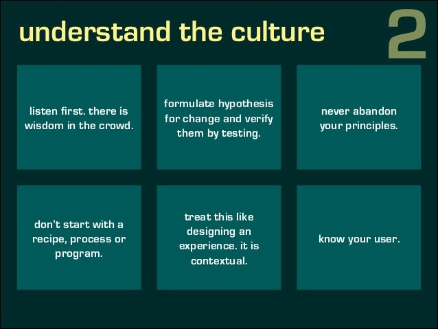 understand the culture 2 culture of a long shelf life instead of a culture of experimentation