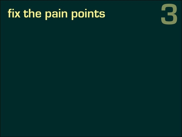 fix the pain points 3