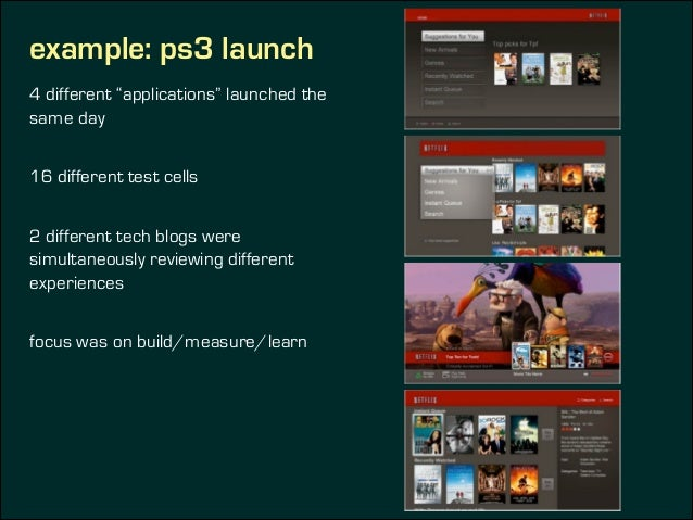 """example: ps3 launch 4 different """"applications"""" launched the same day ! 16 different test cells ! 2 different tech blogs we..."""