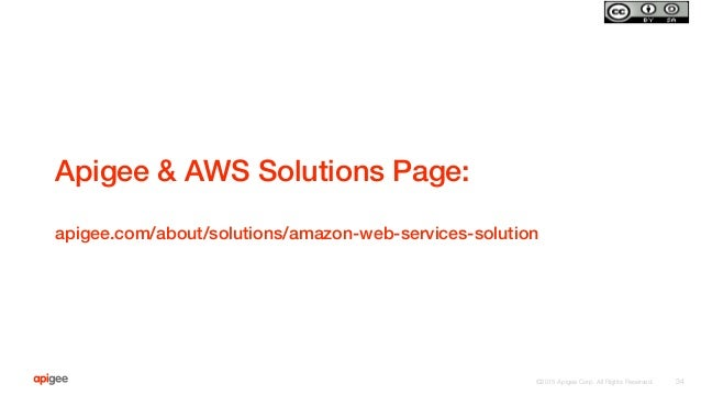 ©2015 Apigee Corp. All Rights Reserved.  Apigee & AWS Solutions Page:! ! apigee.com/about/solutions/amazon-web-services-so...