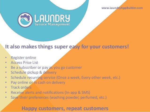 Bringing laundries online Slide 3