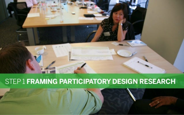 STEP 1 FRAMING PARTICIPATORY DESIGN RESEARCH