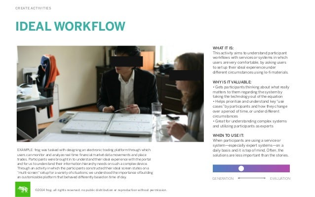 CREATE ACTIVITIES  IDEAL WORKFLOW WHAT IT IS: This activity aims to understand participant workflows with services or syste...