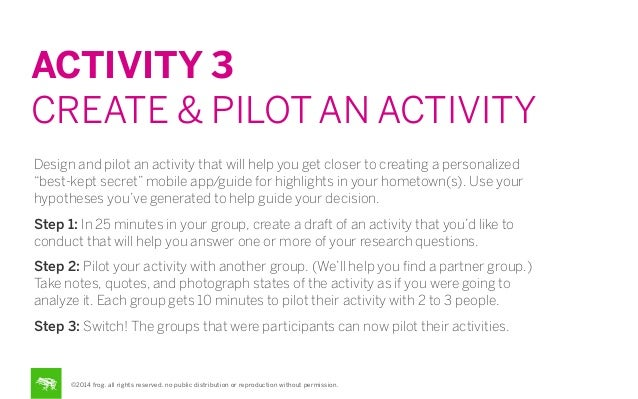 ACTIVITY 3 CREATE & PILOT AN ACTIVITY Design and pilot an activity that will help you get closer to creating a personalize...
